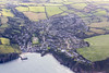 Aerial photo of Gorran Haven.