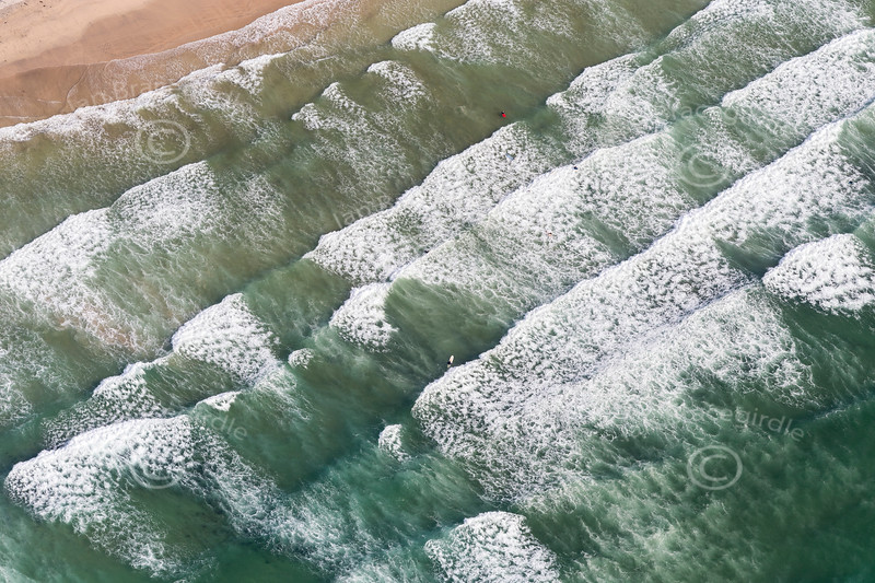 Aerial photo of the sea at Gwithian.