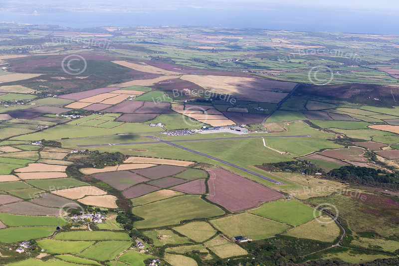 Aerial photo of Lands End airport.