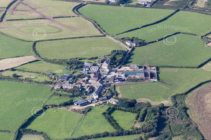 Aerial photo of Lissadell.
