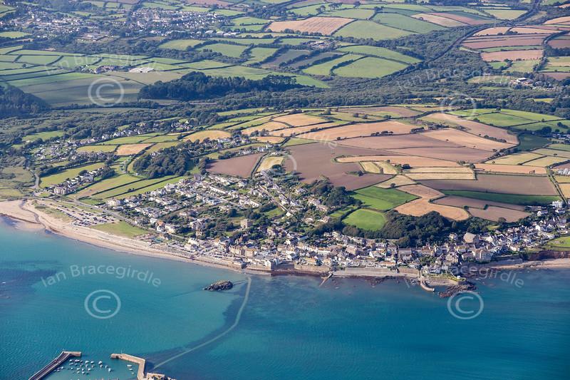 Aerial photo of Marazion.