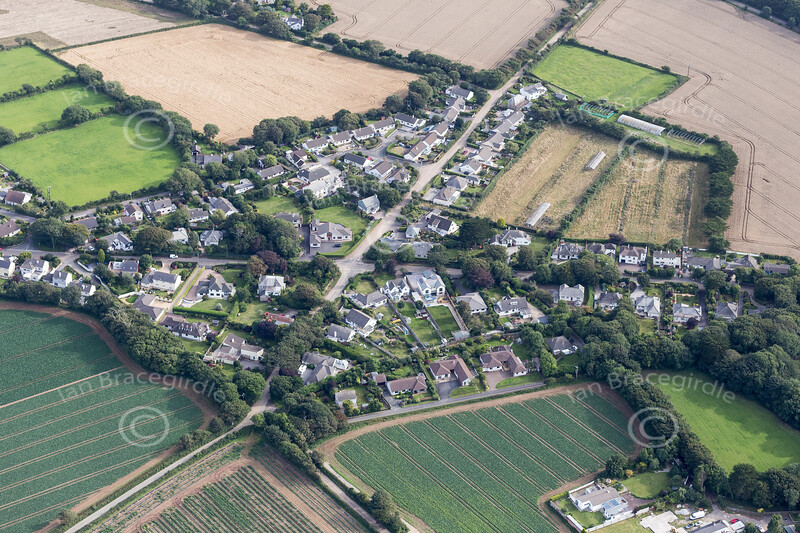 Aerial photo of Mary's Well.
