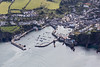Aerial photo of Mevagissey Harbour.