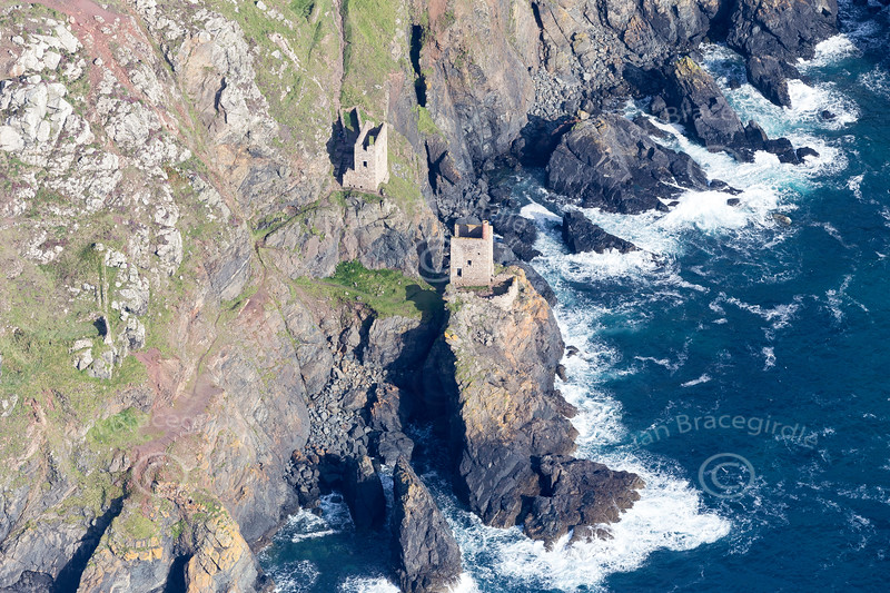 Aerial photo of Botallack Mine.
