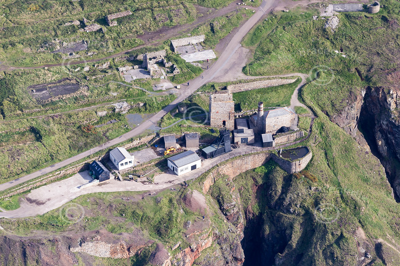 Aerial photo of Levant Mine.