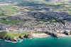 Aerial photo of Newquay.