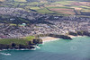 Aerial photo of Lusty Glaze in Newquay.