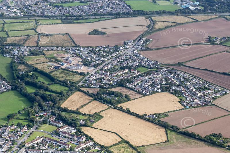 Aerial photo of Park Bottom.
