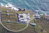 Aerial photo of the Pendeen Lighthouse.