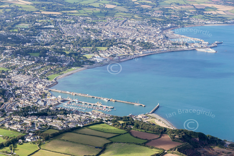 Aerial photo of Penzance.
