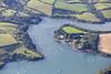 Aerial photo of Percuil.
