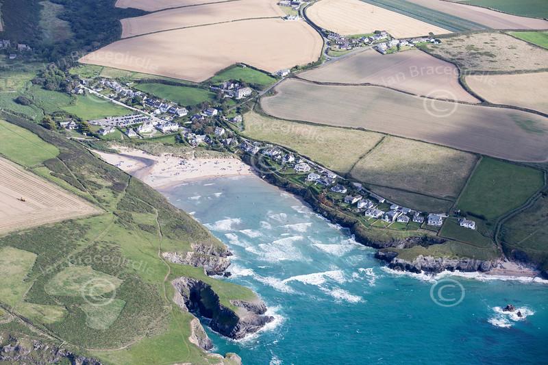 Aerial photo of Porthcothan.