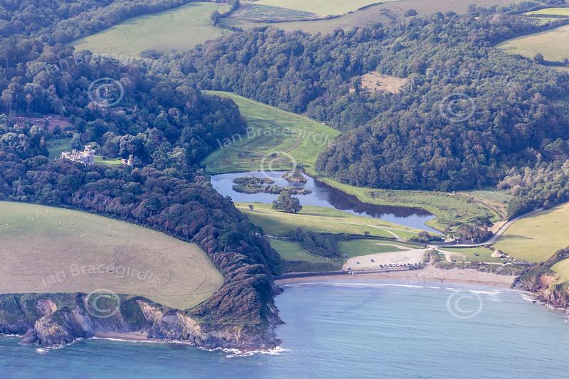 Aerial photo of Porthluney.
