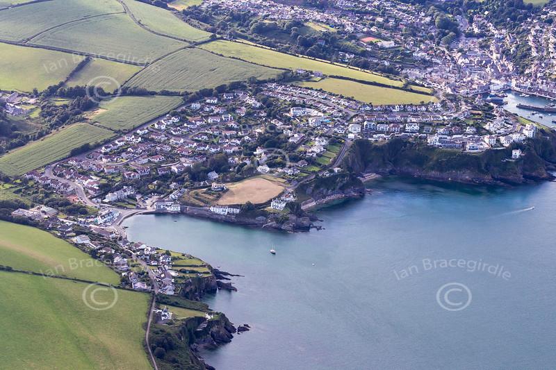 Aerial photo of Portmellon.
