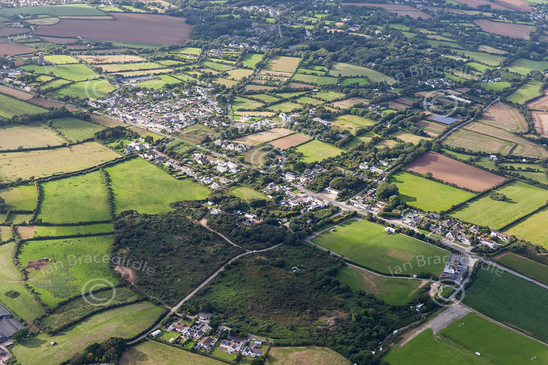 Aerial photo of Rosudgeon.