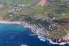Aerial photo of Sennen Cove.