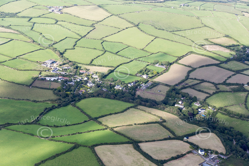 Aerial photo of Seworgan.