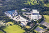 Aerial photo of St Austell Business Park.