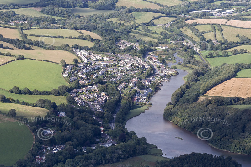 Aerial photo of St Clement.