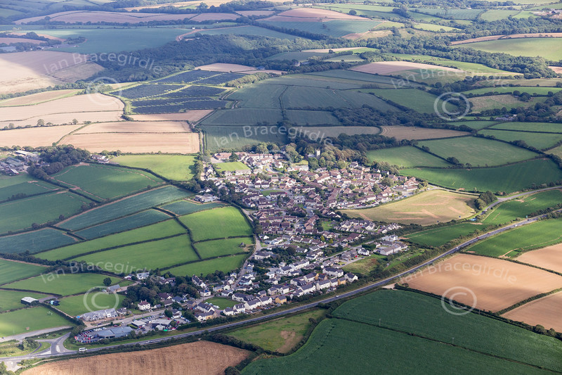 Aerial photo of St Erme.
