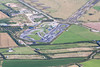 Aerial photo of the St Eval kart track.
