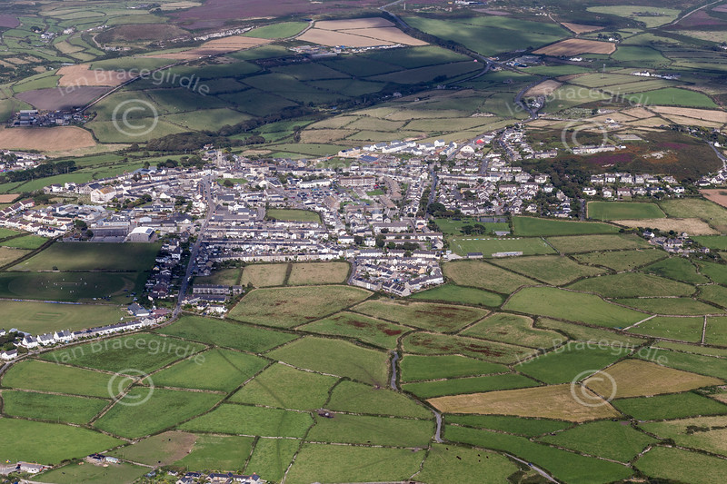 Aerial photo of St Just.
