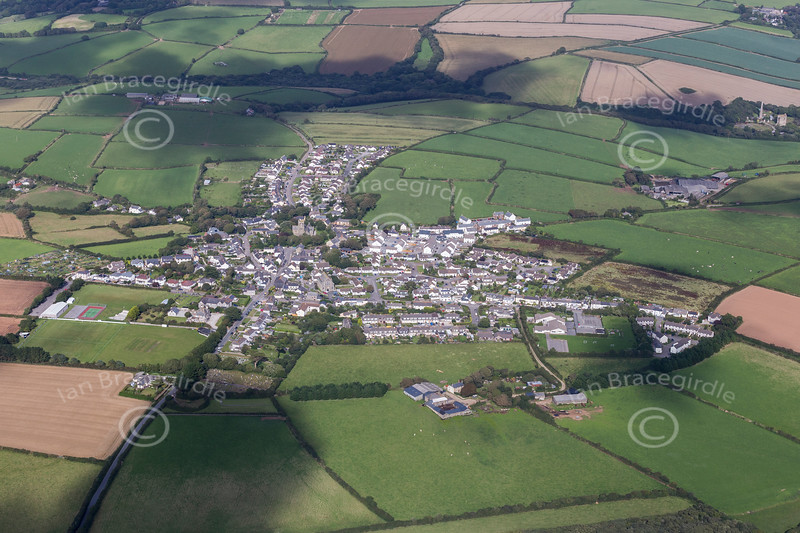 Aerial photo of St Newlyn East.