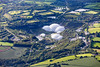 Aerial photo of The Eden Project.