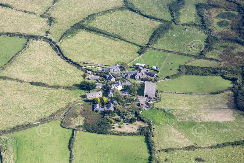 Aerial photo of Towednack.