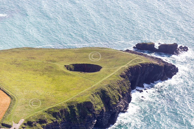 Aerial photo of The Round Hole.