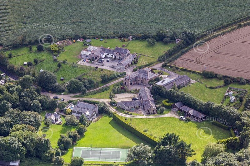 Aerial photo of Treworder.