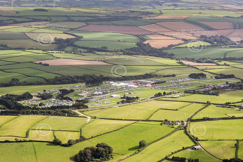 Aerial photo of The Royal Cornwall Showground.