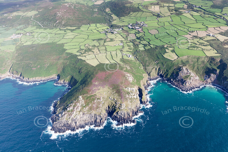 Aerial photo of Zennor.