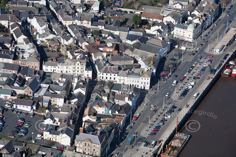 Bideford from the air.