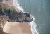 Aerial photo of the North Devon coast.