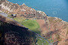 An aerial photo of Lynton and Lynmouth Cricket Club in Devon.