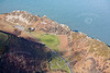 Aerial photo of Lynton and Lynmouth Cricket Club.