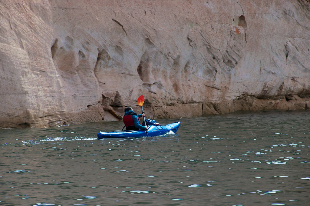 Kayaker on Lake Powell, AZ