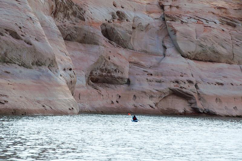 Lone Kayaker, Antelope Canyon, AZ