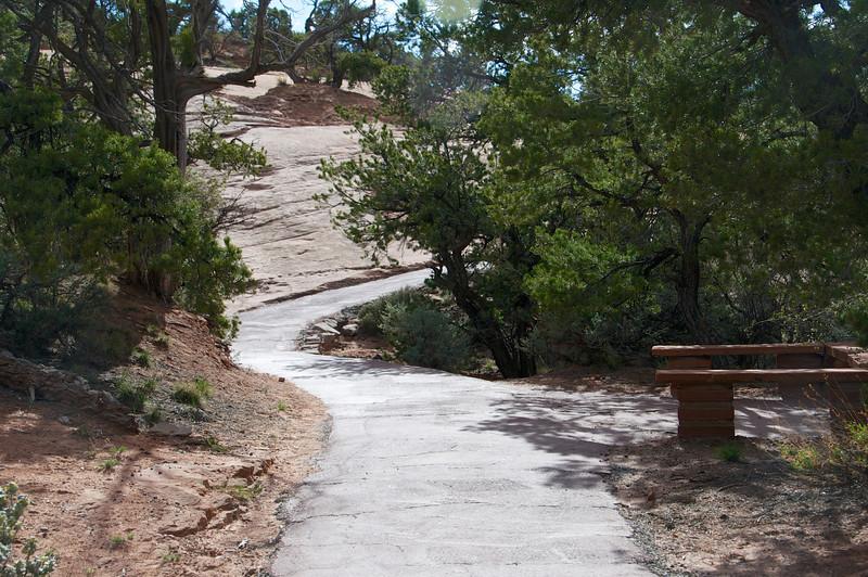 Path to Betatakin dwellings -- ledge house