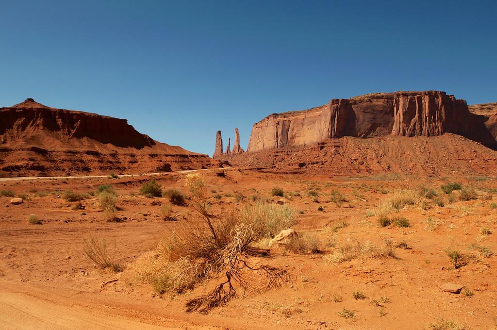 Three Sisters, Monument Valley, AZ