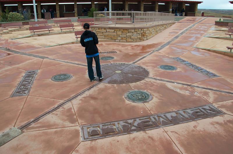 Four Corners Monument -- spot where New Mexico, Arizona, Utah, Colorado meet