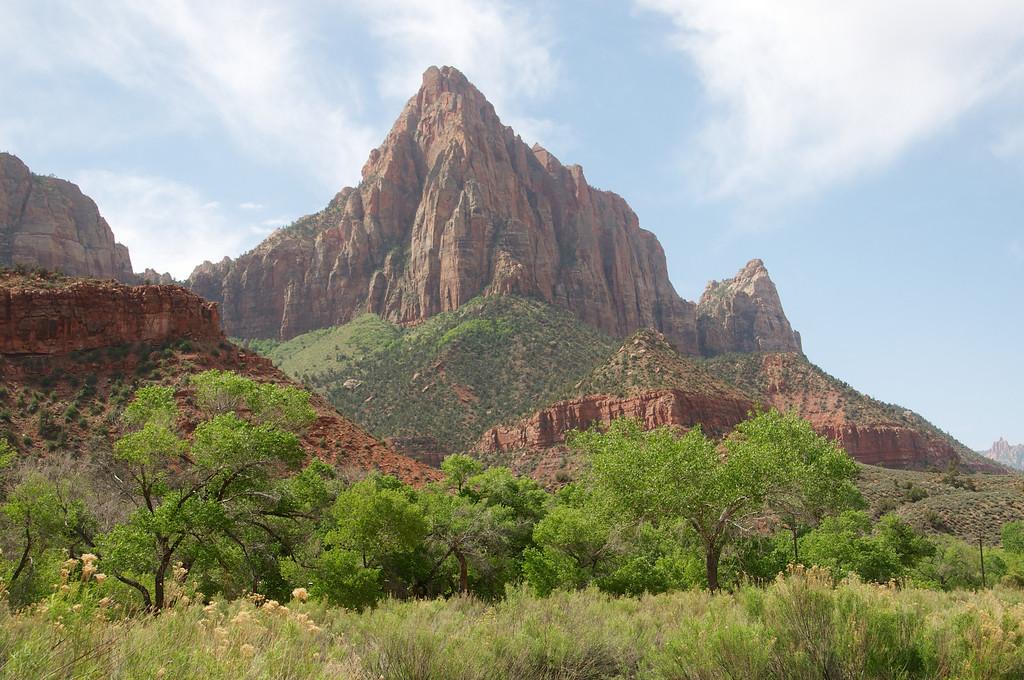 Mountain reaching the sky, Zion, NP