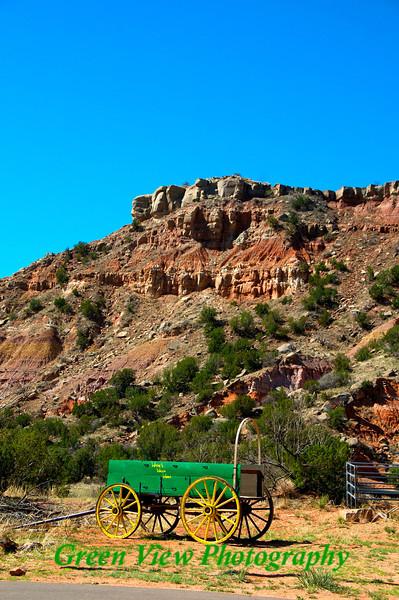 Wagon at the base of the canyon