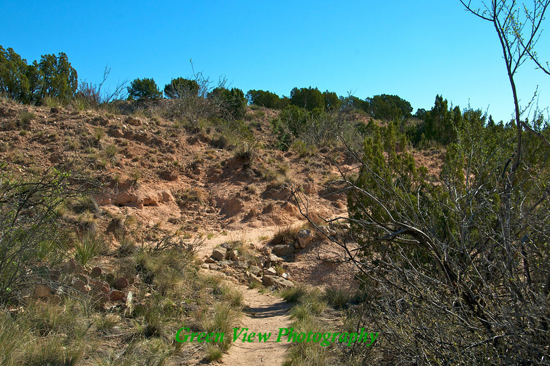 Trail through  canyon