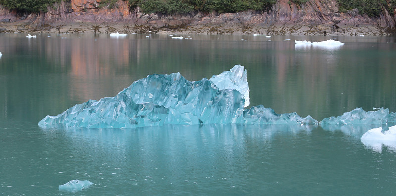 Blue ice in LeConte Bay