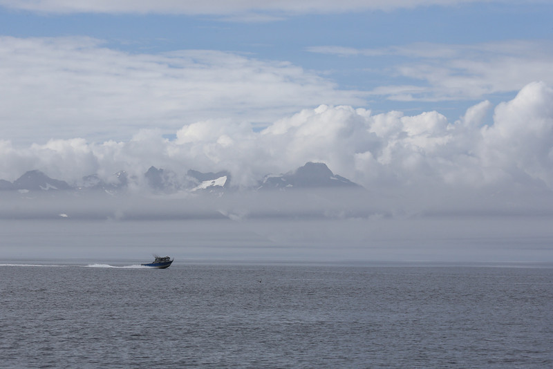 Atmospheric cloud, fog and mist in Frederick Sound