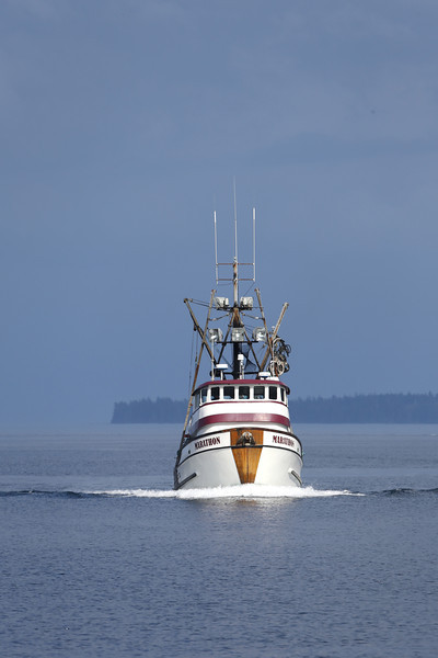 A fishing boat in Frederick Sound.