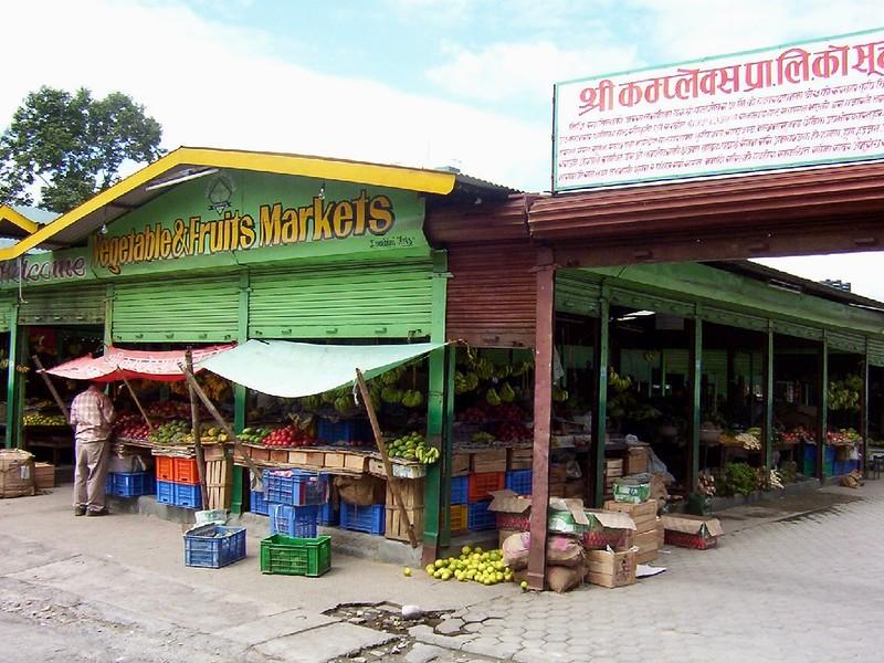 vegetable and fruit marketin Pokhara, Nepal