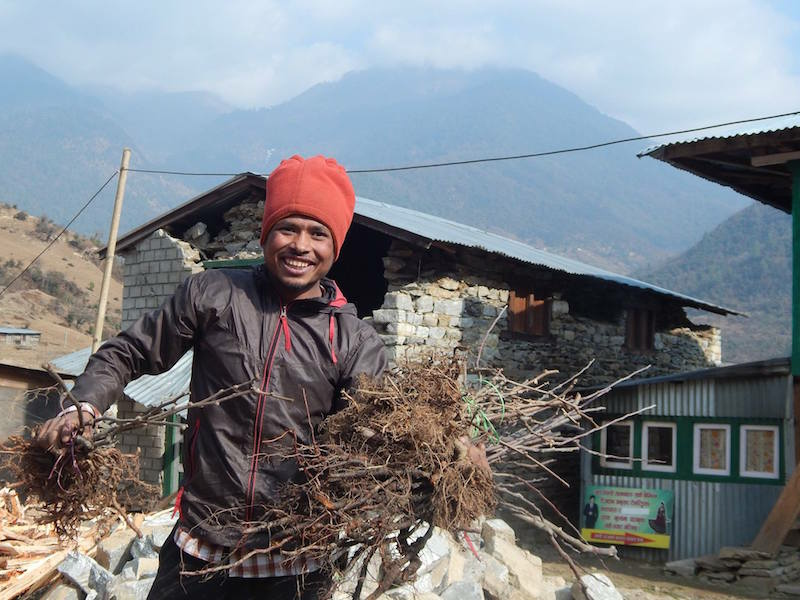 farmer in the Sindhupalchok District of Nepal
